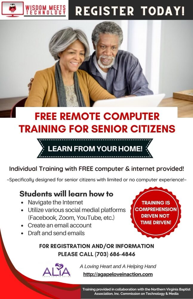 Free Remote Computer Training for Senior Citizens